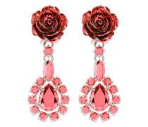 Rose drop earrings