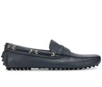 Loafer aus gekörntem Leder