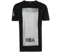 T-Shirt mit glitzerndem Quadrat