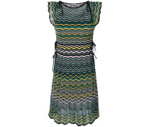 ruffle trim knit dress