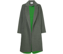 notched collar low button coat