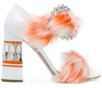 Sandalen mit Kristallbesatz