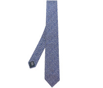 Krawatte mit Blumenstickerei