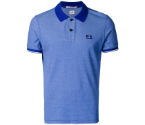 tonal trim polo shirt