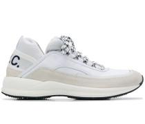 A.P.C. logo print low top sneakers