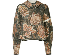 camouflage-print oversized hoodie