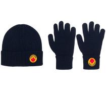 Set aus Mütze und Handschuhen