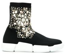 Verzierte x Elena Nachi High-Top-Sneakers