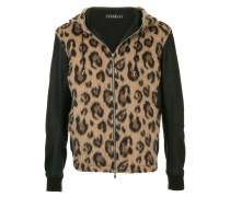 Kapuzenjacke mit Leopardenmuster