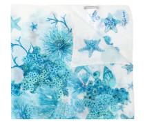 Seidenschal mit Meerestier-Print