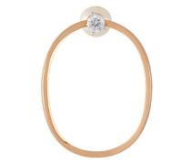 Goldohrringe mit Perle und Diamanten