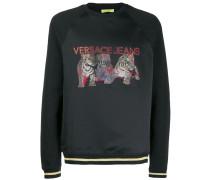 Sweatshirt mit Jacquard-Tigern