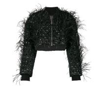 Cropped-Jacke mit Nieten