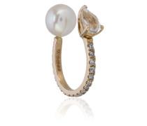'Perle' Ear Cuff aus 14kt Gelbgold mit Edelsteinen