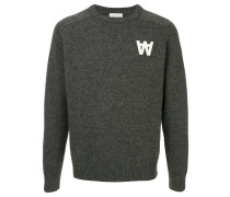 knit logo jumper