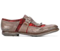 Monk-Schuhe mit karierten Einsätzen