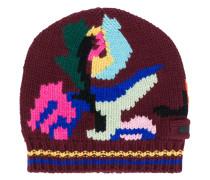 Mütze mit Fantasie-Intarsienstrickmuster