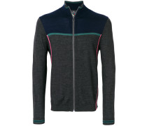Merino-Cardigan in Colour-Block-Optik