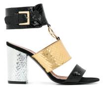 snakeskin-effect ring detail sandals