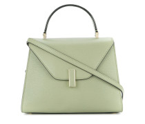 structured flap top tote bag