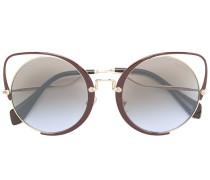 Oversized-Sonnenbrille mit Cat-Eye-Gestell