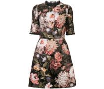 Jacquard-Kleid mit Blumen-Print