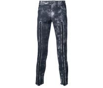 Skinny-Jeans mit Streifendetails