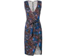 print wrap shift dress