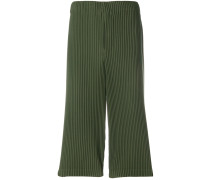 pleated cropped trousers