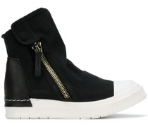 zipped flat sneakers