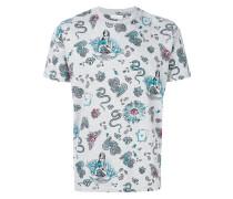 T-Shirt mit Tattoo-Print