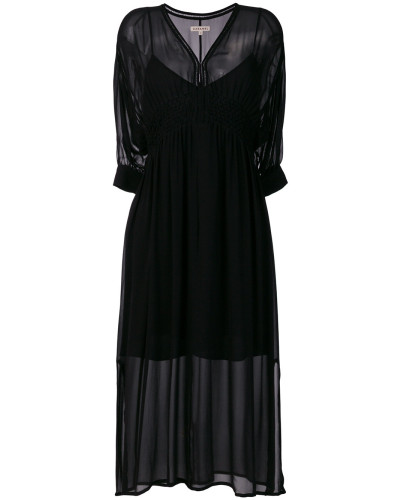 v-neck layered dress
