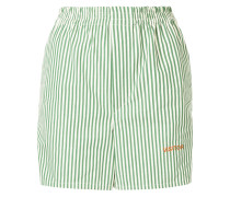 Gestreifte 'Visitor Green' Shorts
