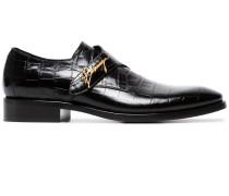 Monk-Schuhe in Krokodilleder-Optik