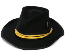ribbon-trimmed hat