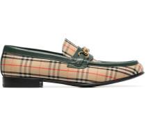 Loafer mit Karo-Print