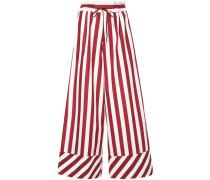 G.V.G.V. striped drawstring wide leg trousers