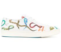 Sneakers mit Schlangen-Print