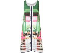 A-Linien-Kleid mit Stempel-Print