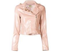 crystal embellished biker jacket