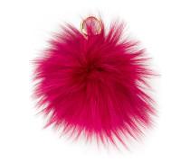 fluffy pompom keyring