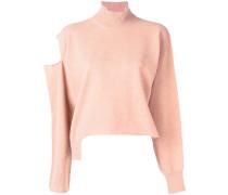 asymmetric cut out detail sweater