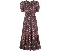 'Zaria' Kleid mit Blumen-Print