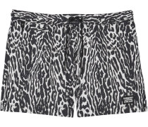 Badeshorts mit Leoparden-Print