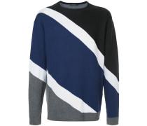 Gestreifter Pullover in Colour-Block-Optik