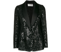 sequinned fitted blazer