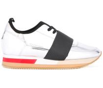 Metallic-Sneakers aus Lackleder