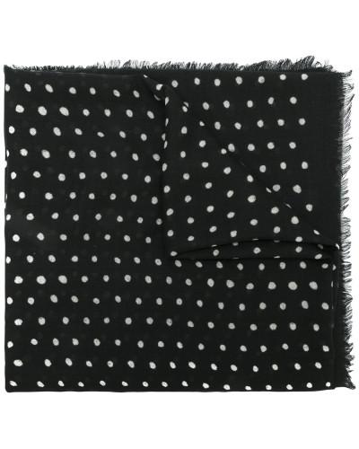 Wollschal mit Punkten