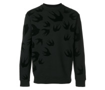 Sweatshirt mit Schwalbe-Print