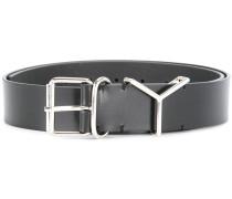 silver embellished leather belt